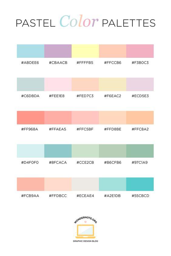 73 Warna Pastel Pengertian Arti Karakter Macam Dan Kombinasi