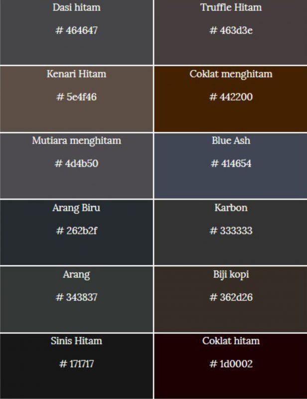 macam-macam warna hitam 2